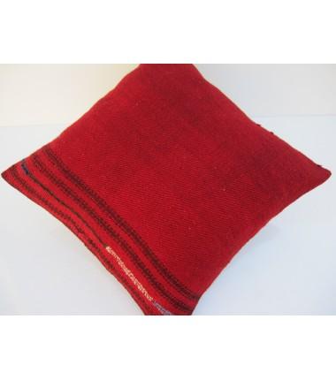 Turkish Kilim Pillow 16x16, ID 111, Kilim From Malatya