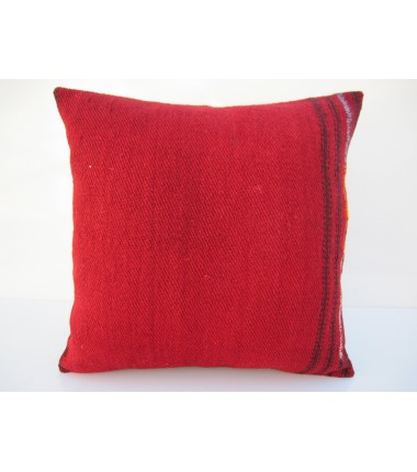Turkish Kilim Pillow 16x16, ID 110, Kilim From Malatya