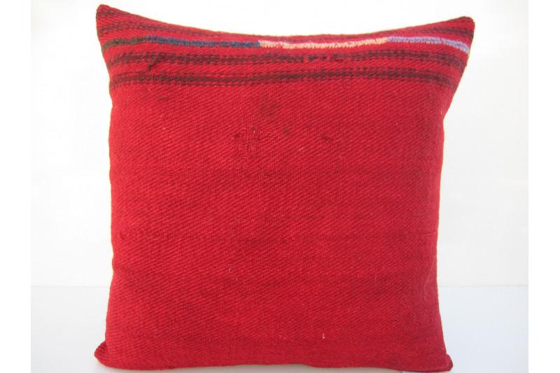Turkish Kilim Pillow 16x16, ID 104, Kilim From Malatya