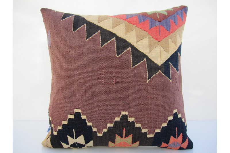 Turkish Kilim Pillow 16x16, ID 100, Kilim From Aydin