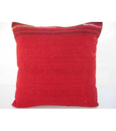 Turkish Kilim Pillow 16x16, ID 092, Kilim From Malatya