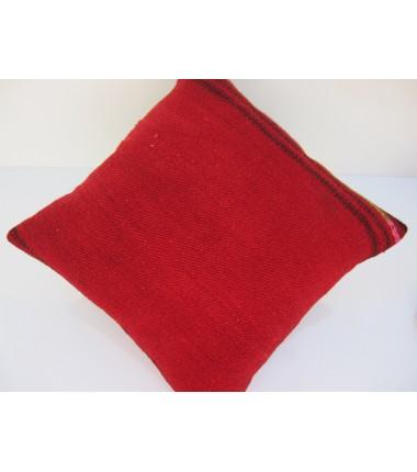 Turkish Kilim Pillow 16x16, ID 078, Kilim From Malatya