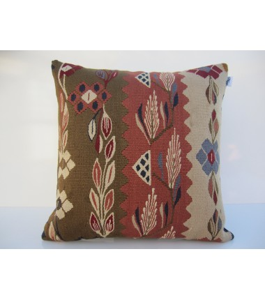 Turkish Kilim Pillow 18x18, ID 073, Kilim From Sarkoy