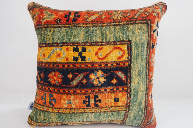 Turkish Carpet Rug Pillow 16x16, ID- 337 - From Malatya