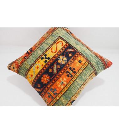 Turkish Carpet Rug Pillow 16x16, ID- 337 - From Malatya