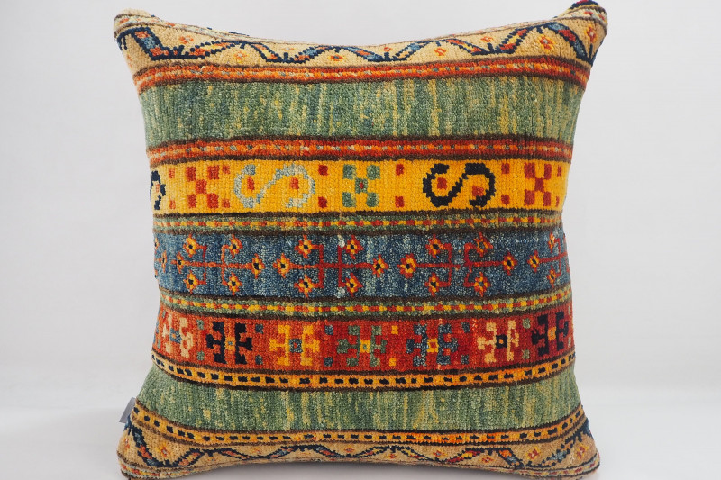 Turkish Carpet Rug Pillow 16x16, ID- 332 - From Malatya