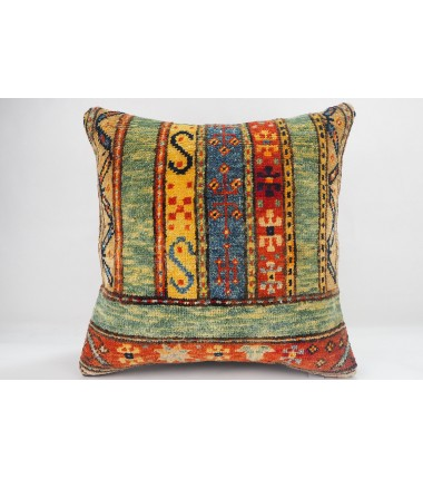 Turkish Carpet Rug Pillow 16x16, ID- 331 - From Malatya