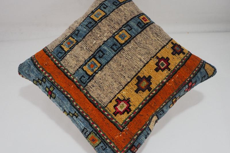 Turkish Carpet Rug Pillow 16x16, ID- 255 - From Malatya