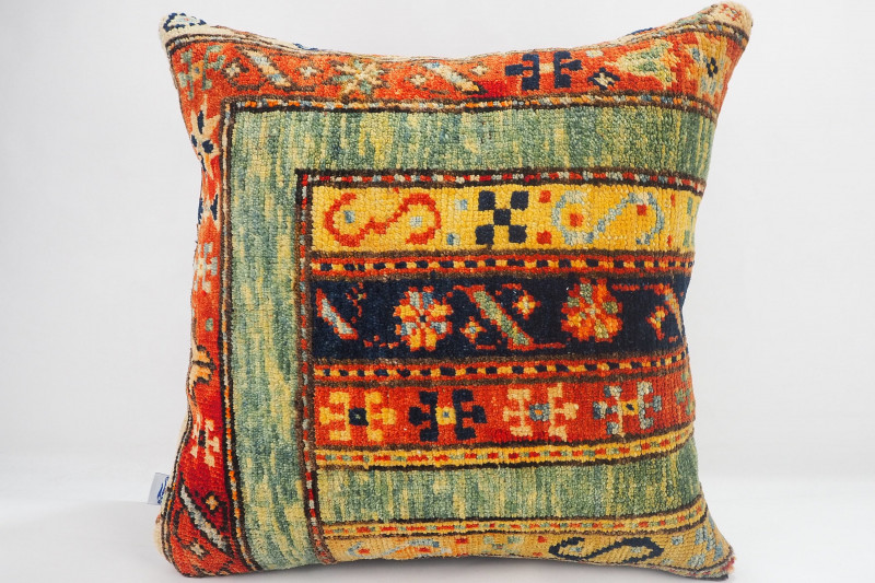 Turkish Carpet Rug Pillow 16x16, ID- 330 - From Malatya