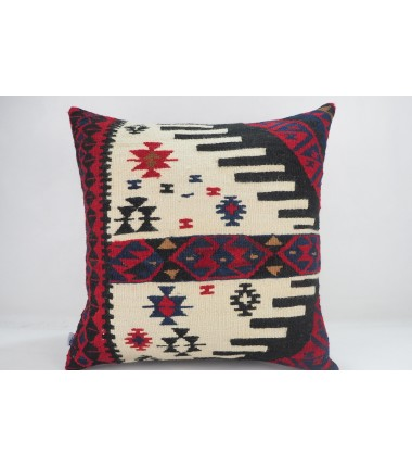 Turkish Kilim Pillow 20x20, ID 343, Kilim From Hakkari