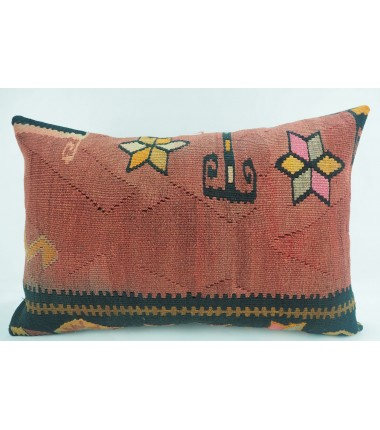 Turkish Kilim Pillow 16X24, ID 322, Kilim From Kars
