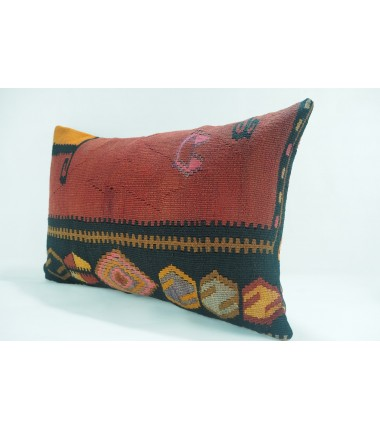 Turkish Kilim Pillow 16X24, ID 321, Kilim From Kars