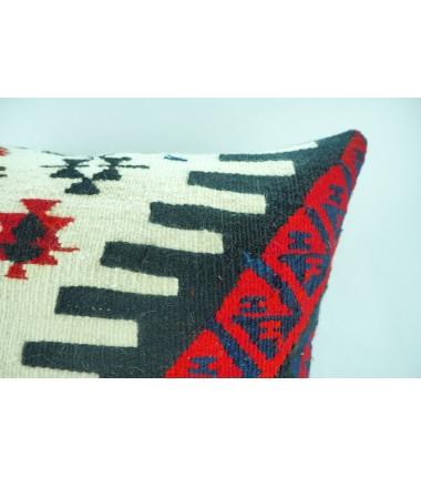 Turkish Kilim Pillow 20x20, ID 320, Kilim From Hakkari