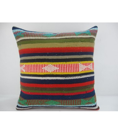 Turkish Kilim Pillow 20x20, ID 316, Kilim From Adiyaman