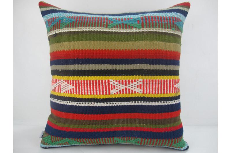 Turkish Kilim Pillow 20x20, ID 313, Kilim From Adiyaman