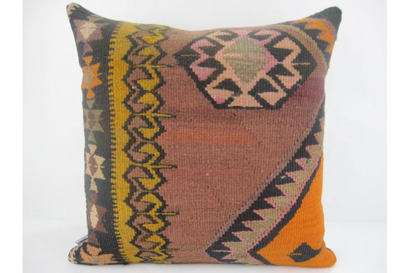 Turkish Kilim Pillow 20x20, ID 312, Kilim From Kars