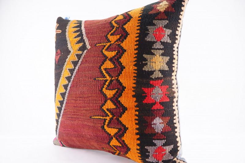 Turkish Kilim Pillow 20x20, ID 451, Kilim From Kars