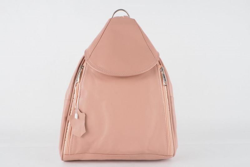 Turkish Genuine Women Pink Leather Bag