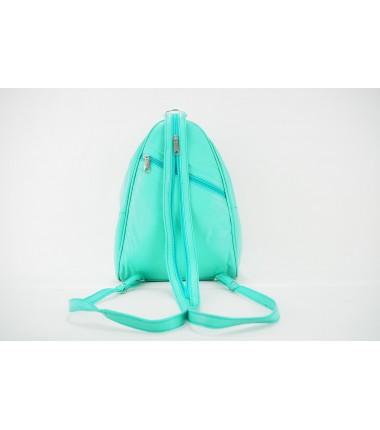 Turkish Genuine Women Blue Leather Bag