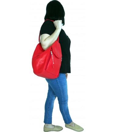 Turkish Genuine Women Red Leather Bag