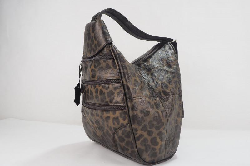 Turkish Genuine Women Leopard Pattern Leather Bag