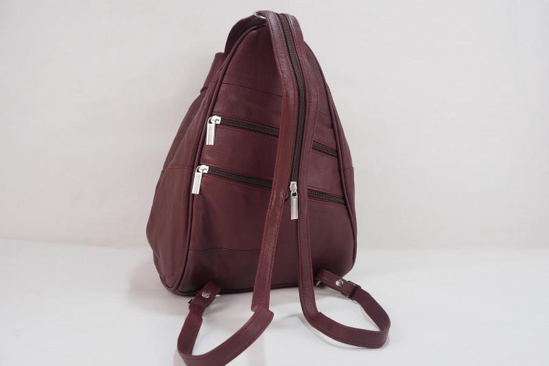 Turkish Genuine Women Claret Red Leather Bag