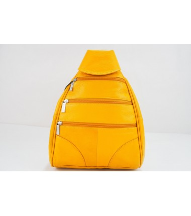 Turkish Genuine Women Yellow Leather bag
