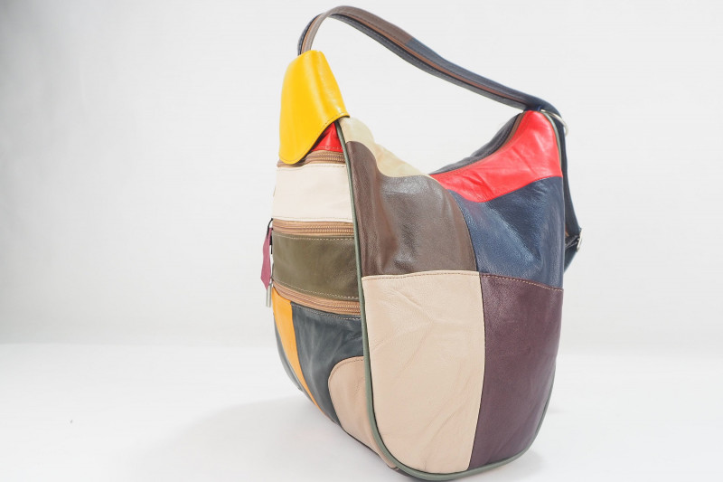 Turkish Genuine Women Patchwork Lamb Leather Bag
