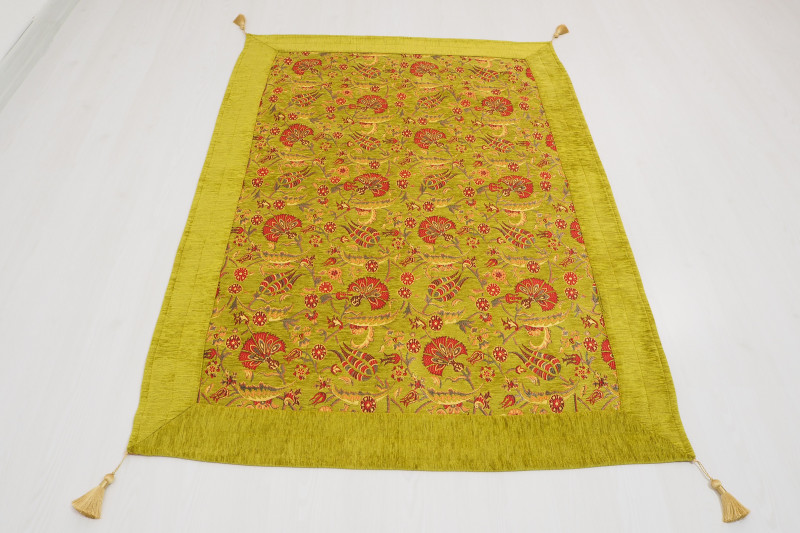Turkish Ottoman Style Green Table Cloth & Sofa Cover