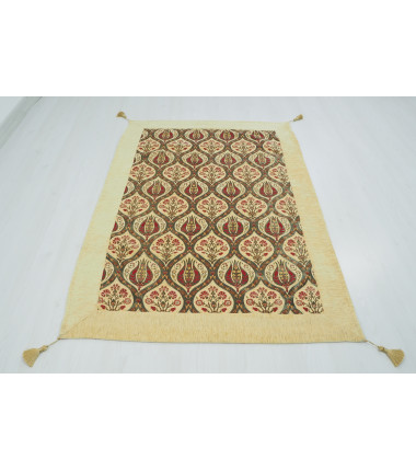 Turkish Ottoman Style Beige Table Cloth & Sofa Cover