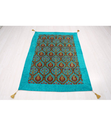 Turkish Ottoman Style Turquoise Blue Table Cloth & Sofa Cover