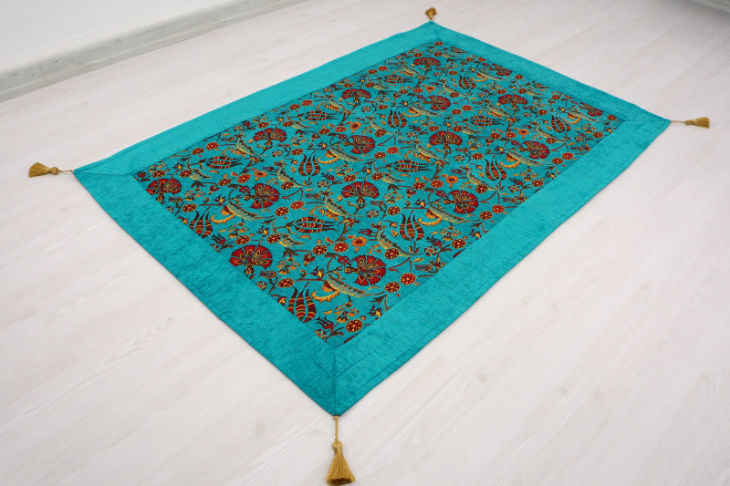 Turquoise Blue Table Cloth