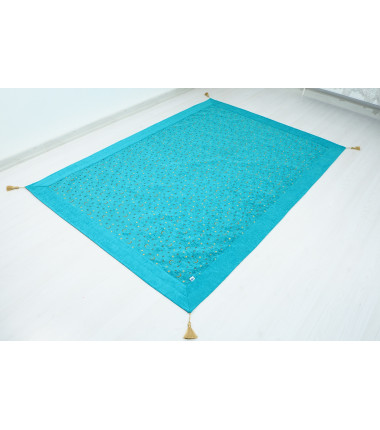 Turquoise Blue Single Size Bed Cover