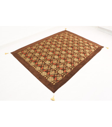 Turkish Ottoman Style Brown Twin & Single Size Bed Cover