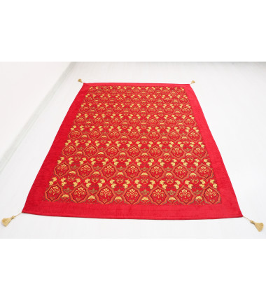 Turkish Ottoman Style Red Twin & Single Size Bed Cover