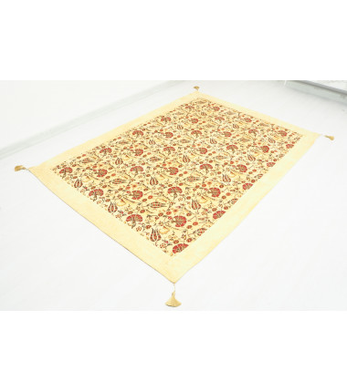 Turkish Ottoman Style Beige Twin & Single Size Bed Cover