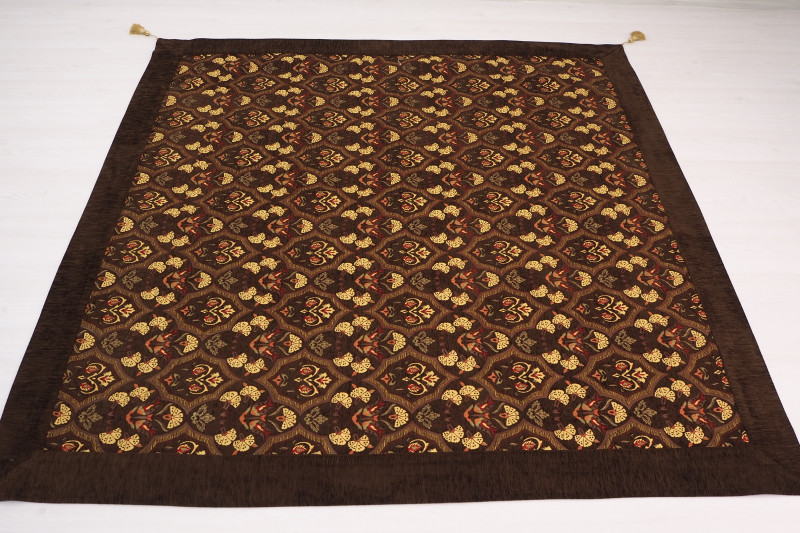 Turkish Ottoman Style Brown Sofa Cover & Table Cloth