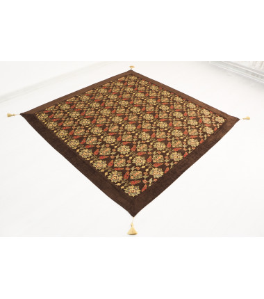 Brown Fabric Table Cloth