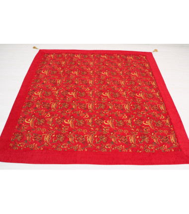 Turkish Ottoman Style Red Sofa Cover & Table Cloth