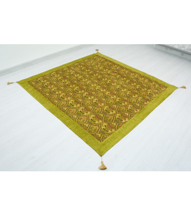 Turkish Ottoman Style Green Sofa Cover & Table Cloth