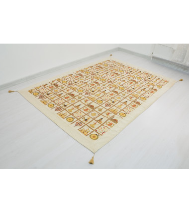 Turkish Ottoman 7.2X5.2 Beige Twin Large Size Bed Cover