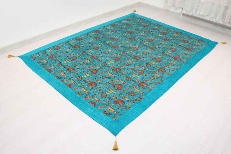 Turquoise Blue Twin Bed Cover