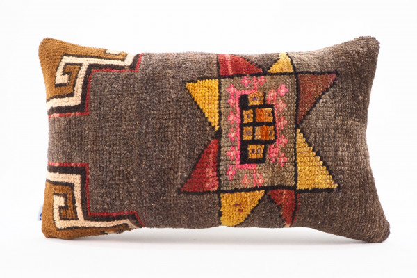 Turkish Carpet Rug Pillow 12x20, From Kars