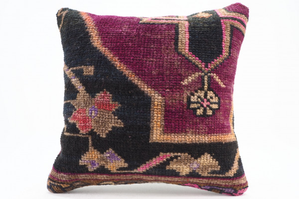 Turkish Carpet Rug Pillow 16x16, From Kars