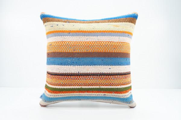 Turkish Kilim Pillow 16x16, ID 536, Kilim From Adiyaman