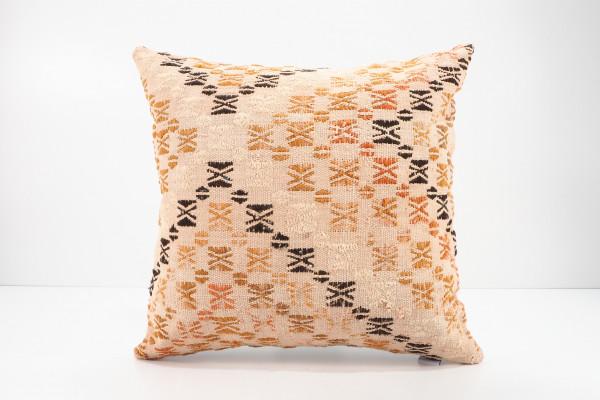 Turkish Kilim Pillow 16x16, ID 541, Kilim From Malatya
