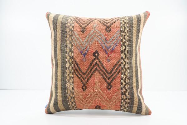 Turkish Kilim Pillow 16x16, ID 543, Kilim From Malatya