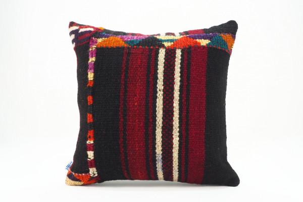 Turkish Kilim Pillow 16x16, ID 544, Kilim From Malatya