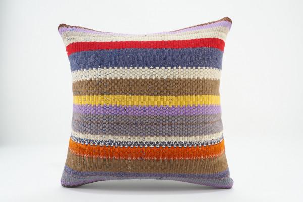 Turkish Kilim Pillow 16x16, ID 545, Kilim From Malatya
