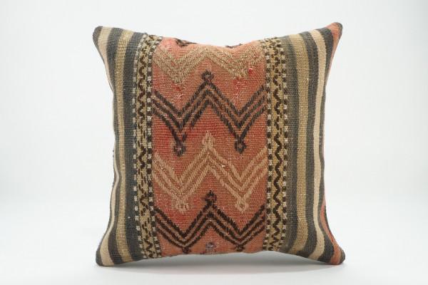 Turkish Kilim Pillow 16x16, ID 546, Kilim From Malatya